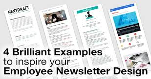 Employee Newsletter 4 Brilliant Examples To Inspire Your Employee Newsletter Design