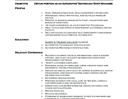 Auto Mechanic Resume Templates Mechanic Resume Samples Automotive Technician Resume Sample Diesel