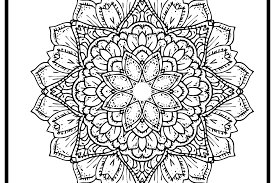 Download the mandala 1 coloring page. Printable Easy Mandala Flower Coloring Page