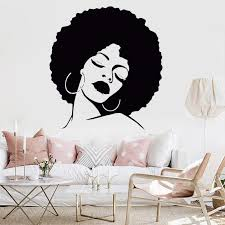 fashion girl vinyl decorative wall art sticker lady y hair spa removable waterproof decal for salon decal hair salon mural home sticker home wall art