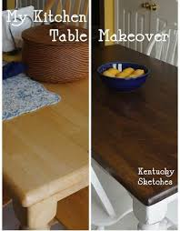 making over a kitchen table i the look of the blonde wood that we have now so this may be in our future