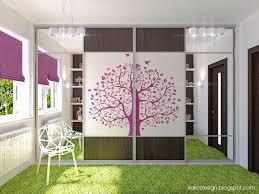 bedroom ideas for teenage girls purple. Stylish And Cute Purple Room Ideas For Teenage Girls : Tree Decal Wardrobes Bedroom