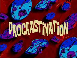 procrastination spongebob time cards know your meme procrastination