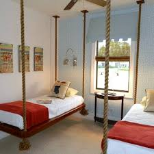 Rope Hanging Bed Shared Teen Rooms Rope Suspended Beds Kidspace Interiors