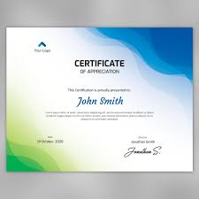 Abstract Waves Certificate Template Fully Editable Template