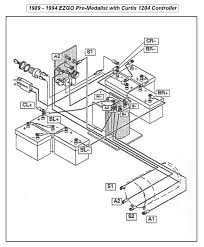 Golf cart wiring diagram for 1989 to 1994 e z go with curtis 1204 electronic motor speed
