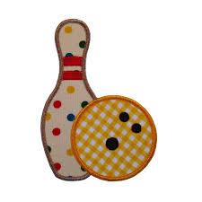 Bowling Machine Embroidery Designs Bowling Pin And Bowling Ball Set