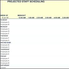 Employee Scheduling Template Excel Work Plan Staff Free Vacation