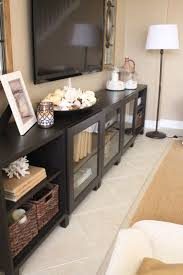 Living Room Media Furniture 17 Best Ideas About Tv Console Decorating On Pinterest Tv Stand