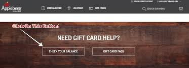 check applebees gift card balance