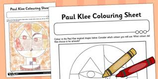 Paul Klee Colouring Sheet Paul Klee Colour Colouring Art