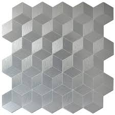 12 X 12 Decorative Tiles 100 Sheets Peel and Stick Metal Mosaic Decorative Wall Tile 100'' X 19