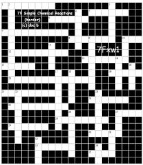 qca 7f ks3 chemistry index crossword puzzle answers