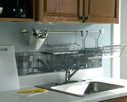 wall mount dish drying rack hanging design kitchen drainer to increase singapore
