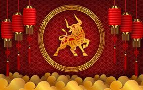 Those who are born under the ox sign are independent and strong people, but very stubborn. Chinese 2021 Year Of The Ox Greeting Card Vector Free Download