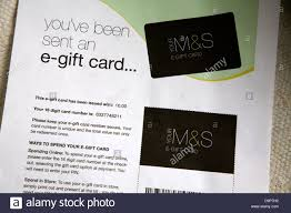 e gift card for marks and spencer