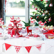 red christmas table decorations. Red And White Christmas Table Decoration Decorations