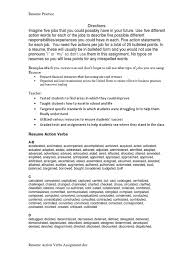 Employ Resume Action Verbs Assignment Test Assessment Economies