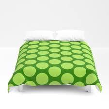 dots pattern 6 emerald lime green duvet cover