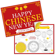 White wear them all, especially the lucky color of your astrological sign: Chinese New Year Paper 2021 Year Of The Ox Coloring Sheets Activity Placemats Set Of 16 By Big Dot Of Happiness Catch My Party