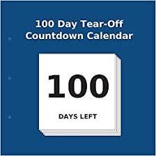 Calendar Countdown Days 100 Day Tear Off Countdown Calendar Amazon Co Uk Buy Countdown