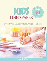 Free Lined Paper For Kids New Kids Lined Paper Freestyle Handwriting Practice For Preschooler