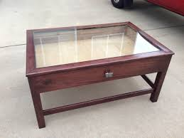 ... Coffee Table, Remarkable Dark Brown Rectangle Minimalist Wood Glass Top  Display Coffee Table Design Ideas ...