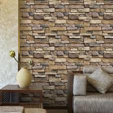 3d Wallpaper Brick Stone Rustic Effect