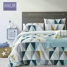 whole 100 cotton modern geometric bedding set 36s home sateen cotton 200tc duvet cover pillow cover bed set queen king canada 2019 from sophine11