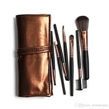 foreign trade makeup brush 7 makeup brush black rod brown bag ebay amazon sell eye shadow blush brush best makeup eyebrow makeup from yummyxiao