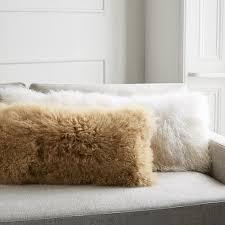 mongolian lamb pillow covers bolster