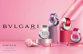 the new bvlgari caign reimagines omnia fragrances as candy coloured confections