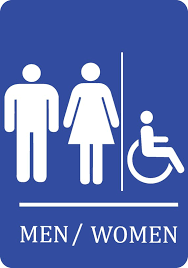 Handicap Bathroom Signs Unique Blue Handicap Men Women Bathroom Sign Quality Plastic Outdoor Etsy