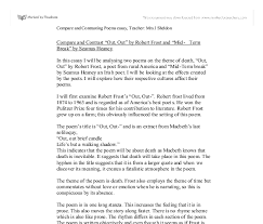compare and contrast out out by robert frost and mid term  document image preview