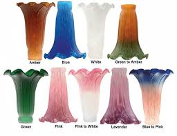 cool glass lamp shades replacement lily shades at lighting and chandeliers