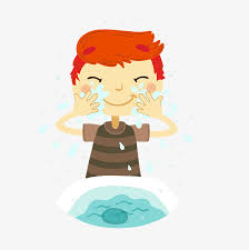 washing face clipart. Perfect Face Cartoon Boy Wash Face Material Wash It Your Face Hand Basin PNG Intended Washing Face Clipart I