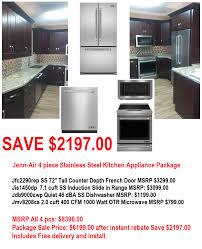 Kitchen Appliances Package Deals Jenn Air Kitchen Appliance Package Online Deal 2200 Off