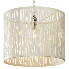 village at home donez easy fit pendant light shade cream