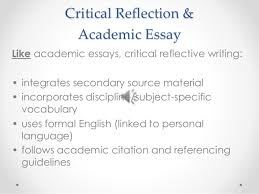 critical reflective writing critical reflection academic essay