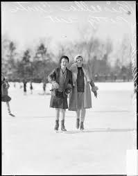 ECC | [Priscilla Curtis and Betty Keith ice skating at the Lake Fo