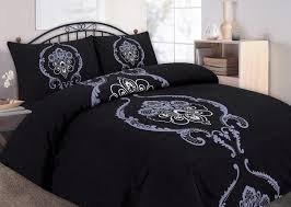 king size vintage dominic black damask duvet set