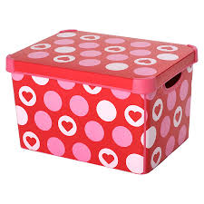 diy decorated storage boxes. Bedroom:Heart Prints For Storage Bins To Give More Stunning Decorative Look Add In Diy Decorated Boxes A
