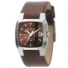 diesel men s diesel brown leather strap watch cliffhanger diesel men s diesel brown leather strap watch cliffhanger collection dz1090