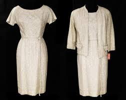 XS 1950s Taupe Hourglass Dress & Jacket by Betty Mancini | Etsy
