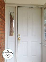 white front door. Boring White Front Door Gets A Face Lift