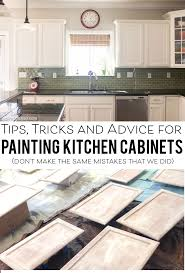 Small Picture Tips for Painting Kitchen Cabinets Kitchens and House