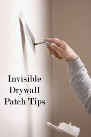 invisible diy drywall patching how to