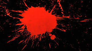 Slow Motion Paint Splatter with Red Paint Splattering a Black Background in  HD Slow Mo Video View - YouTube