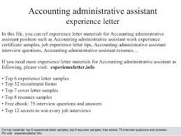 Assistant Accountant Cover Letter Letter Resume Directory