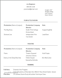 actor resume no experience acting resume sample no experience resume examples with no